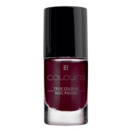 LR Lak na nehty True Colour (odstín Black Cherry) - 5,5 ml
